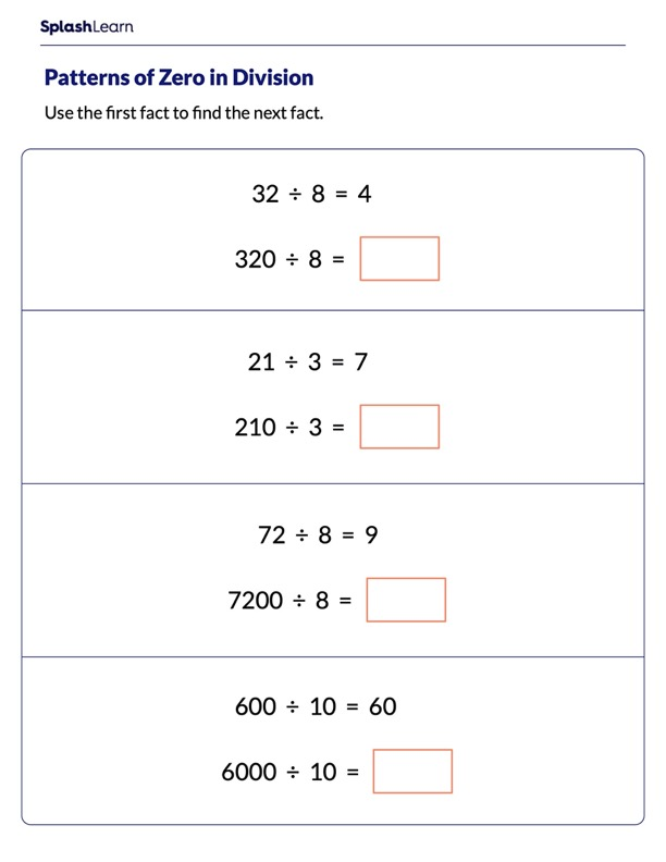Use Patterns of Zero to Divide