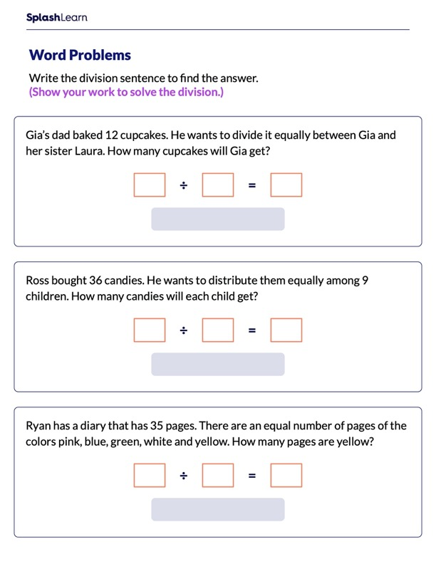 Use Multiplication to Solve Division Word Problems
