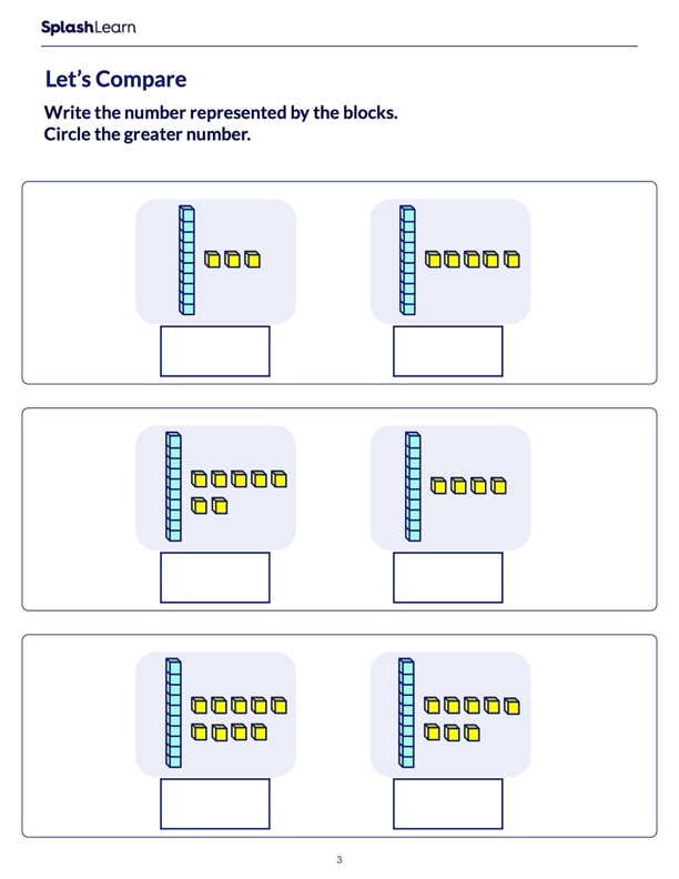 Comparing Numbers Using Blocks