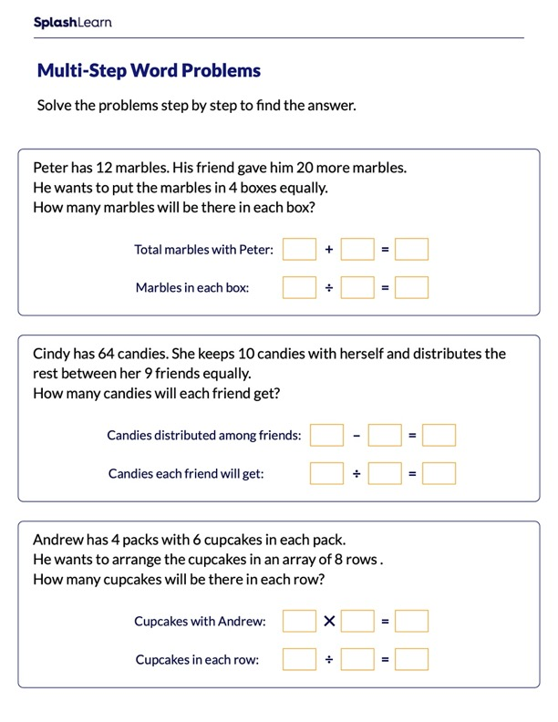 Multi-Step Division Word Problems