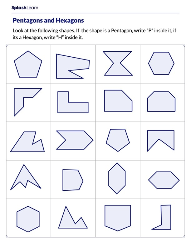 Identify Pentagons and Hexagons
