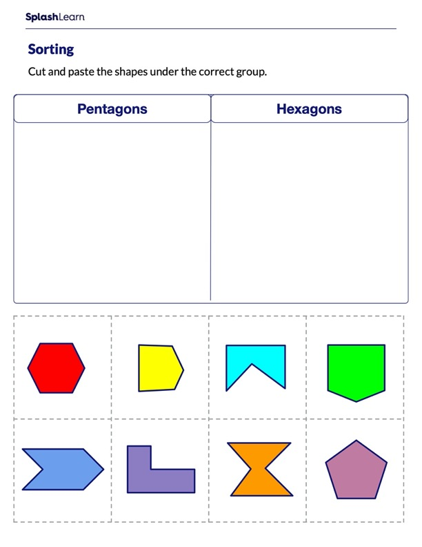 Sorting Shapes as Pentagons and Hexagons