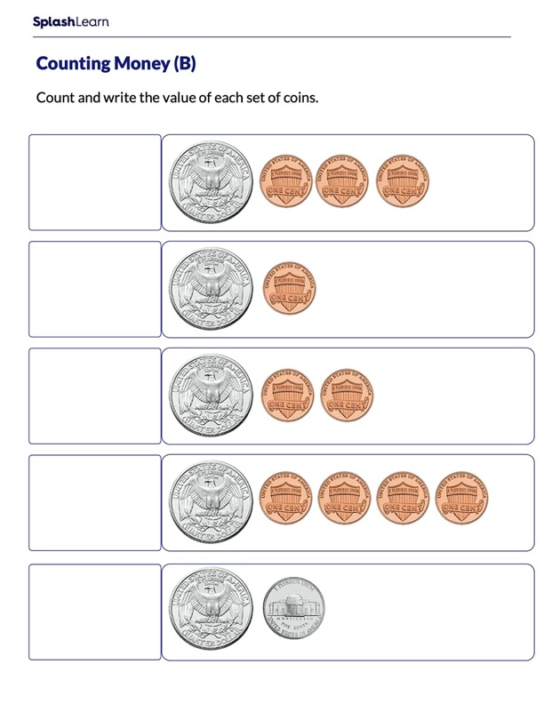 Write the Value of a Set of Coins