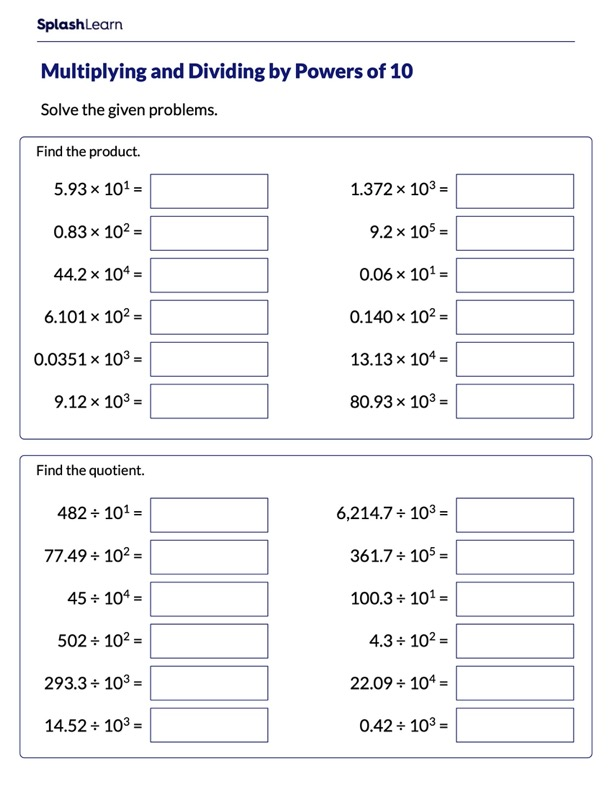 Multiplication and Division by Powers of 10