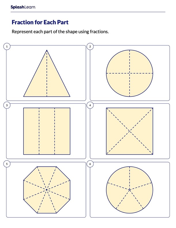 Represent Using Fractions