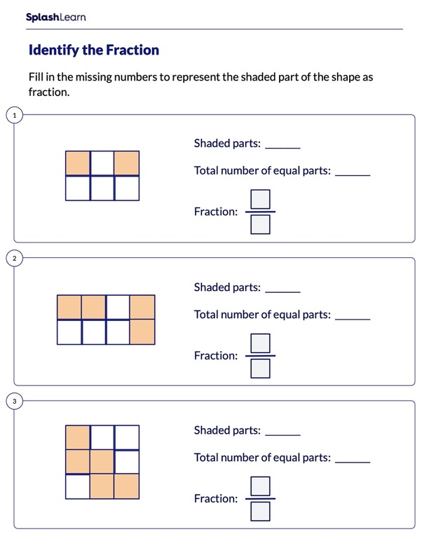 Represent the Shaded Part Using Fraction
