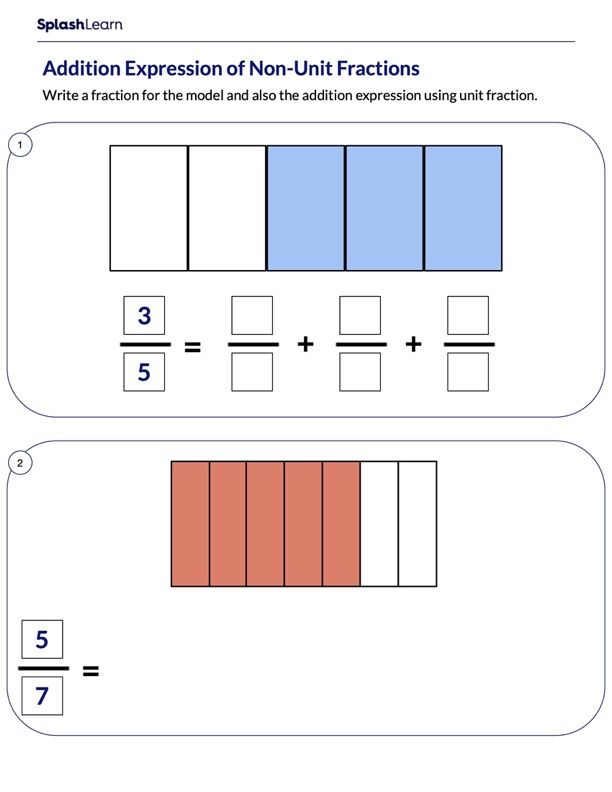 Represent Fractions As Sum of Unit Fractions