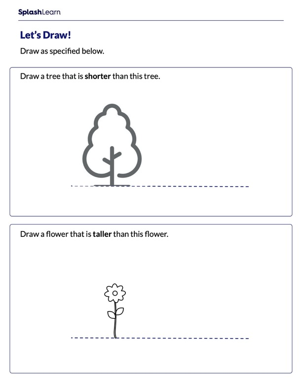 Draw Taller and Shorter Objects