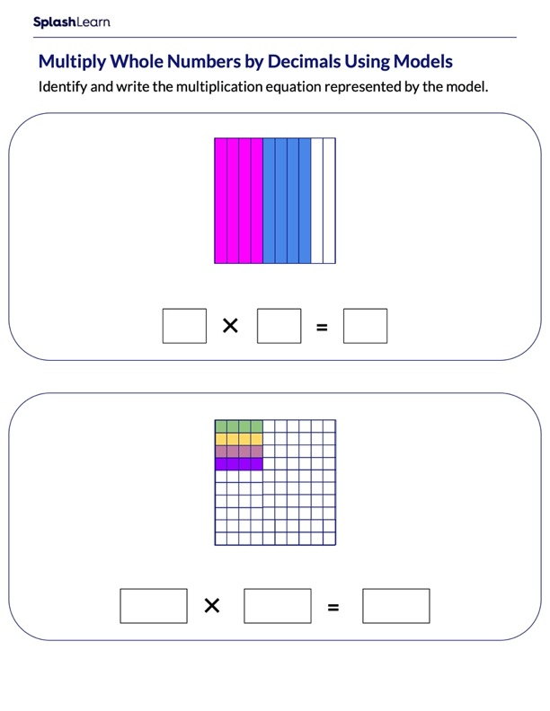 Multiply Whole Numbers and Decimals Using Models