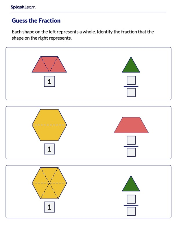 Identify the Fraction of the Shape