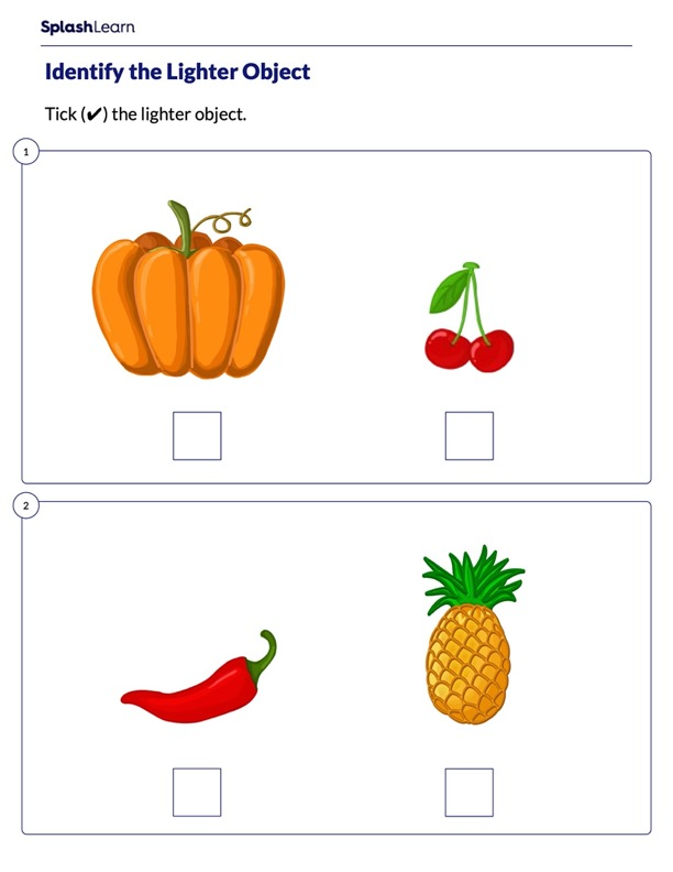 Which Object is Lighter