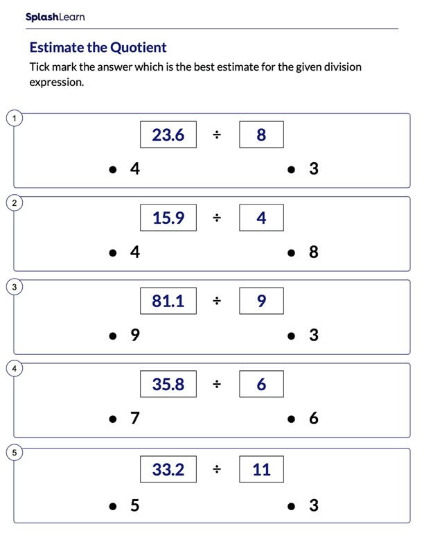 Estimate the Division Quotient