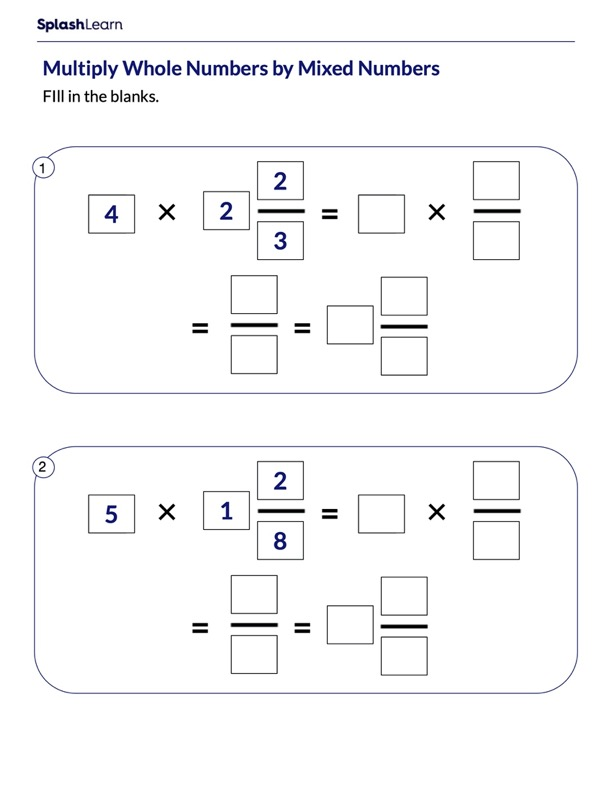 Finding Product of Mixed Number and Whole Number