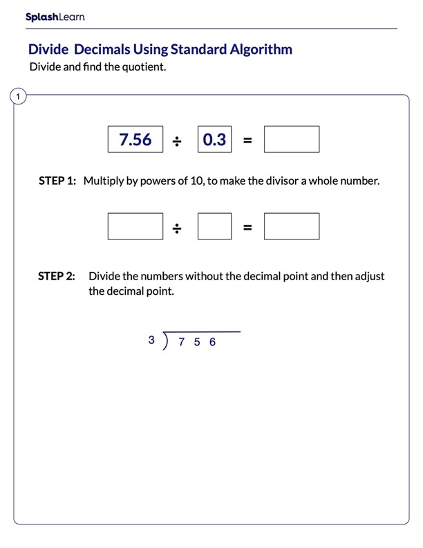 Divide Decimals by Converting into Whole Number
