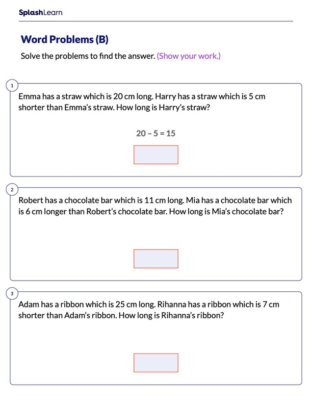 Word Problems on Measurement