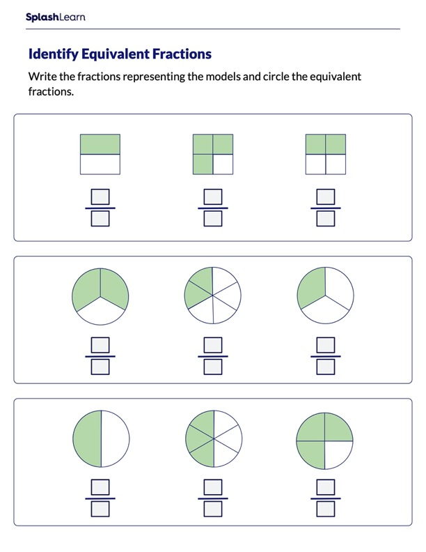 Circle Equivalent Fractions