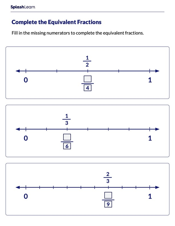 Find Numerator to Make Equivalent Fractions