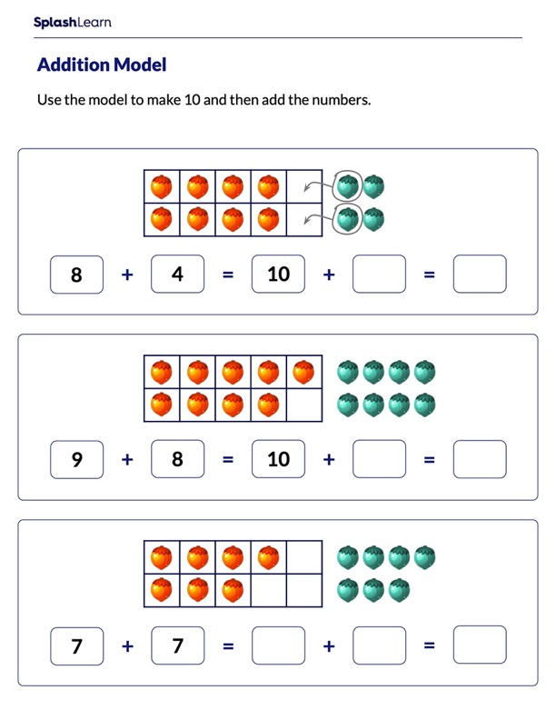 Add by Making 10 Using a Ten-Frame