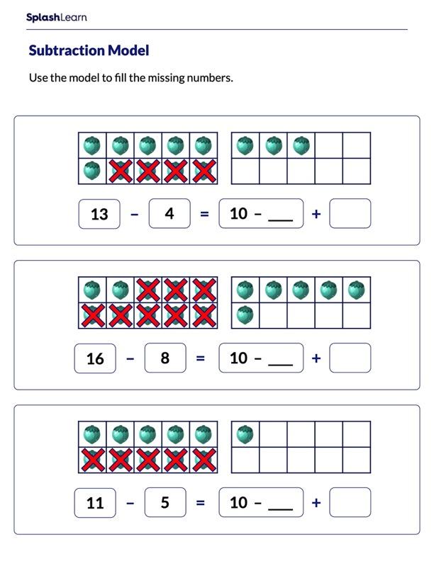 Subtract Using Ten-Frame