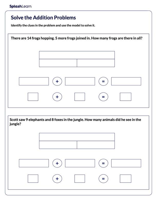 Solve Addition Problems Using Bar Model