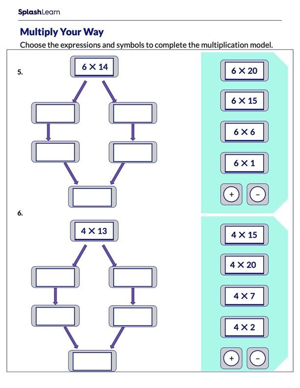 Fill in the Multiplication Model