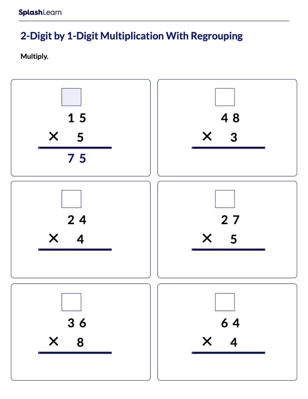 Multiply Vertically With Regrouping