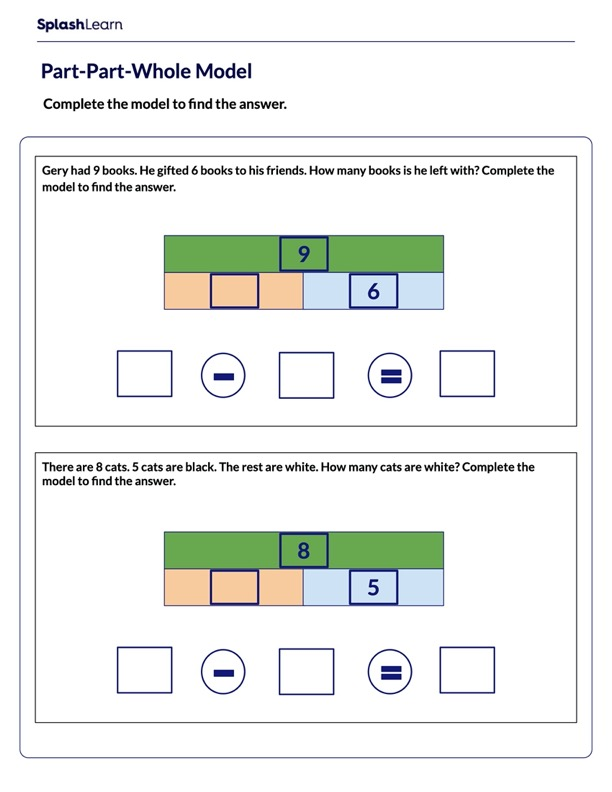 Complete the Part-Part-Whole Model
