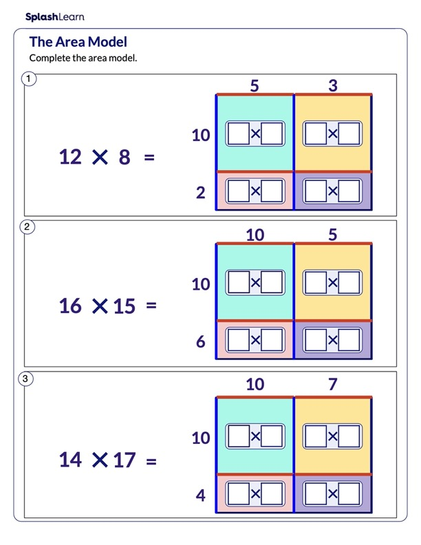 Fill the Area Model of Multiplication