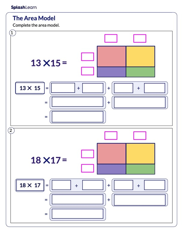 Multiply using the Area Model