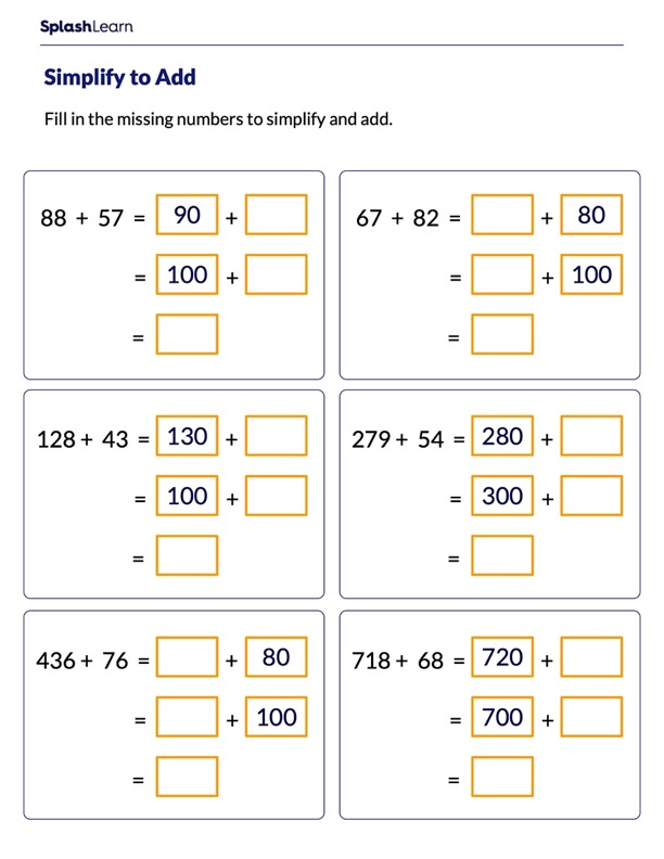Make a Multiple of 10 and 100 to Add