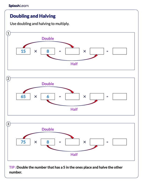 Find the Product by Doubling and Halving