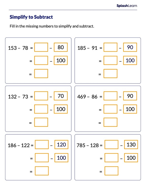 Make a Multiple of 10 and 100 to Subtract