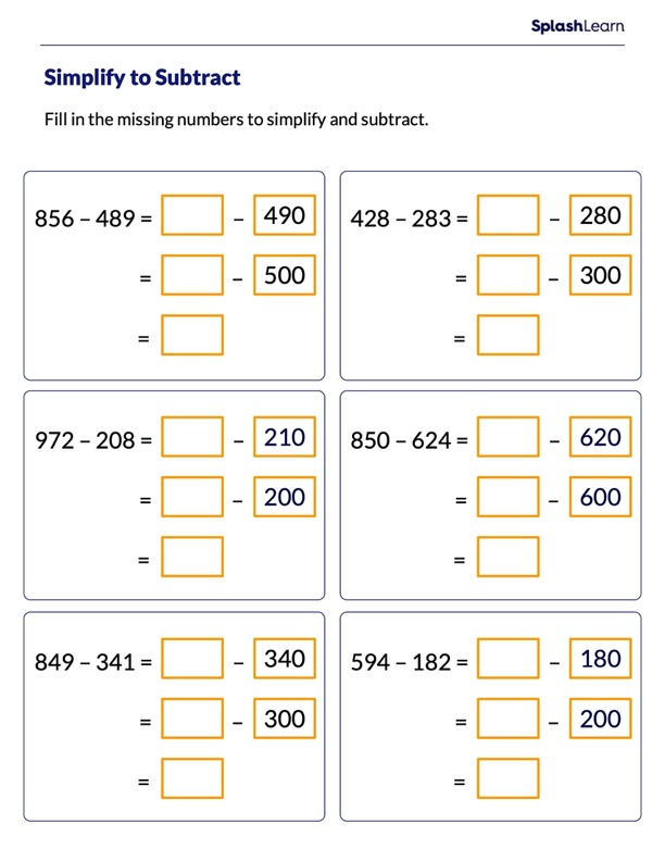 Subtract by Making a Multiple of 10 and 100