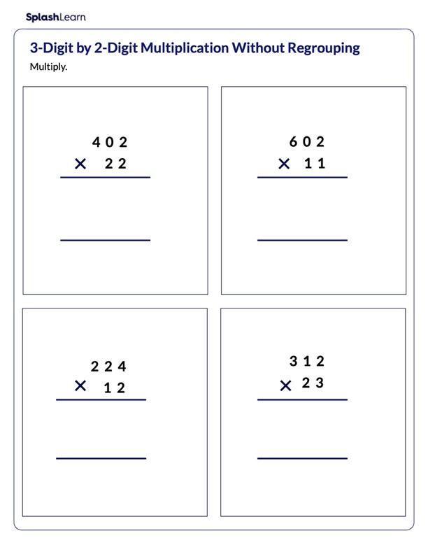 Multiply 3-Digit Number by 2-Digit Number