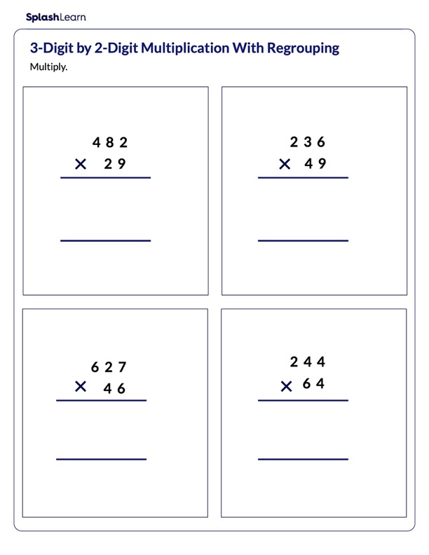 Regrouping in 3-Digit by 2-Digit Multiplication
